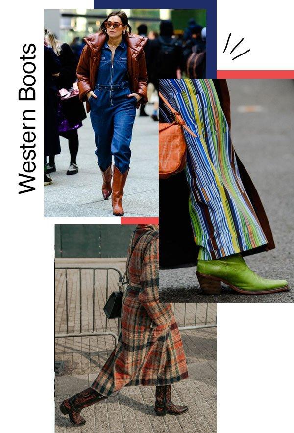 reprodução pinterest - bota - Western boots - outono/INVERNO - NYFW