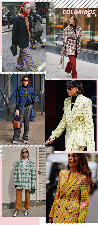 street style - xadrez - xadrez - inverno - tendência