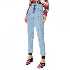 Calça Jeans Slim Recorte Frente