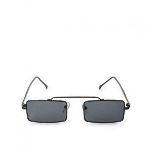 Óculos De Sol Retangular Metal