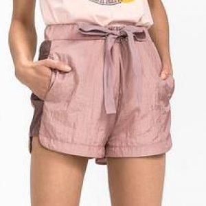 Shorts Em Tecido De Tafetá Com Cordão No Cós
