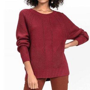 Suéter Em Tricô Com Detalhe De Pontos Abertos