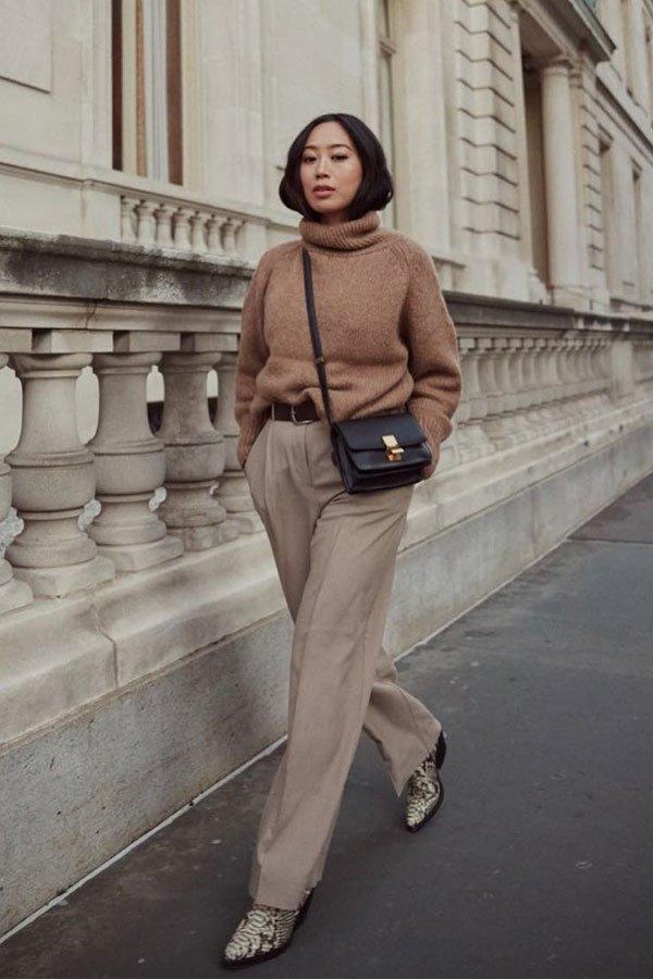 Aimee Song - calça e sueter -      - outono/INVERNO - street style