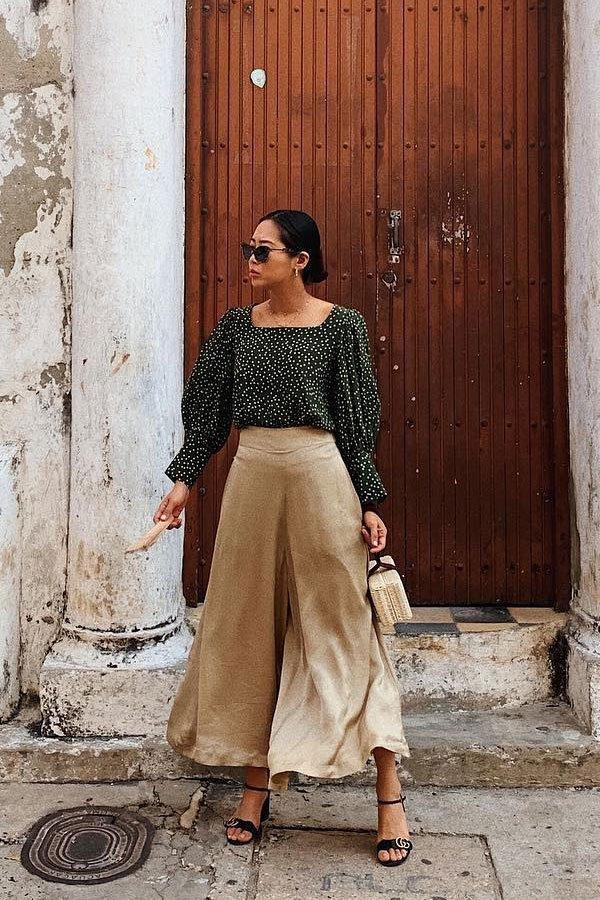 Aimee Song - calça e blusa - linho - meia-estação - street style