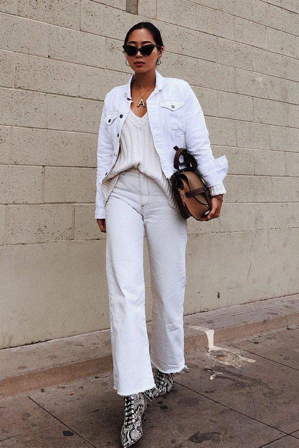 Aimee Song - calça branca - total white - meia-estação - street style