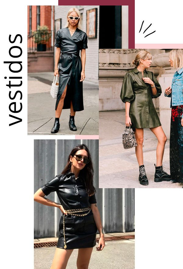 Vanessa Hong, Vic Hollo - couro - couro - inverno - street-style