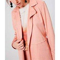 Trench Coat Suede Feminino