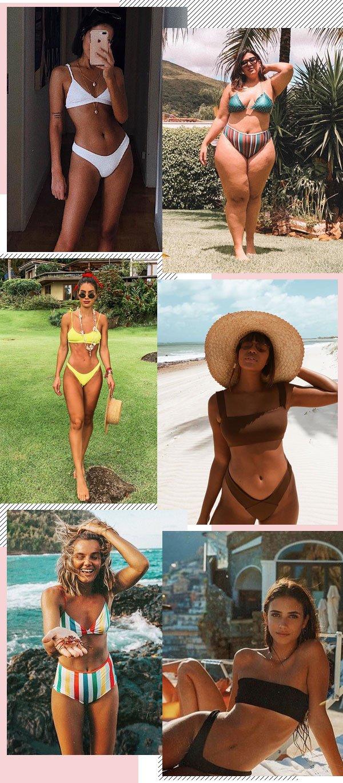 Nathalie Billio, Lari Cunegundes, Carla Ortiz, Camila Coelho - biquini - beachwear - verão - praia