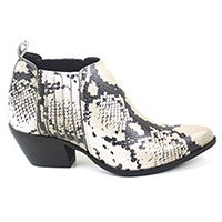 Bota Cano Curto Cobra Animal Print
