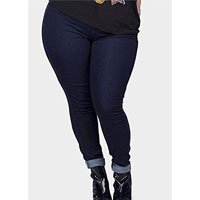 Calça Jeans Cós Alto Skinny Plus Size