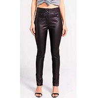 CALCA SKINNY LEATHER TOUCH