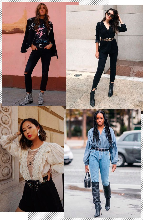 Rocky Barnes, Vic Hollo, Aimee Song, Chrissy Rutherford - cinto-western - western - outono - street-style