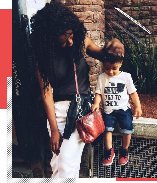 Jordana Rosa - casual - mãe e filho - meia estação - rua
