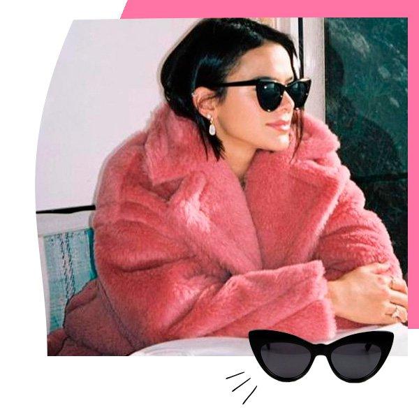 Bruna Marquezine - óculos de sol - gatinho - outono - street-style
