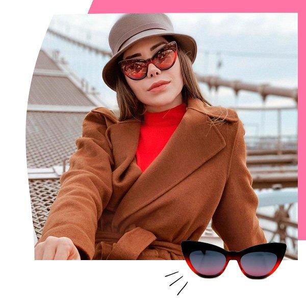 Rafaella Chijner - óculos de sol - gatinho - outono - street-style
