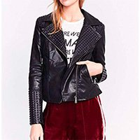 JAQUETA BIKER LEATHER TOUCH