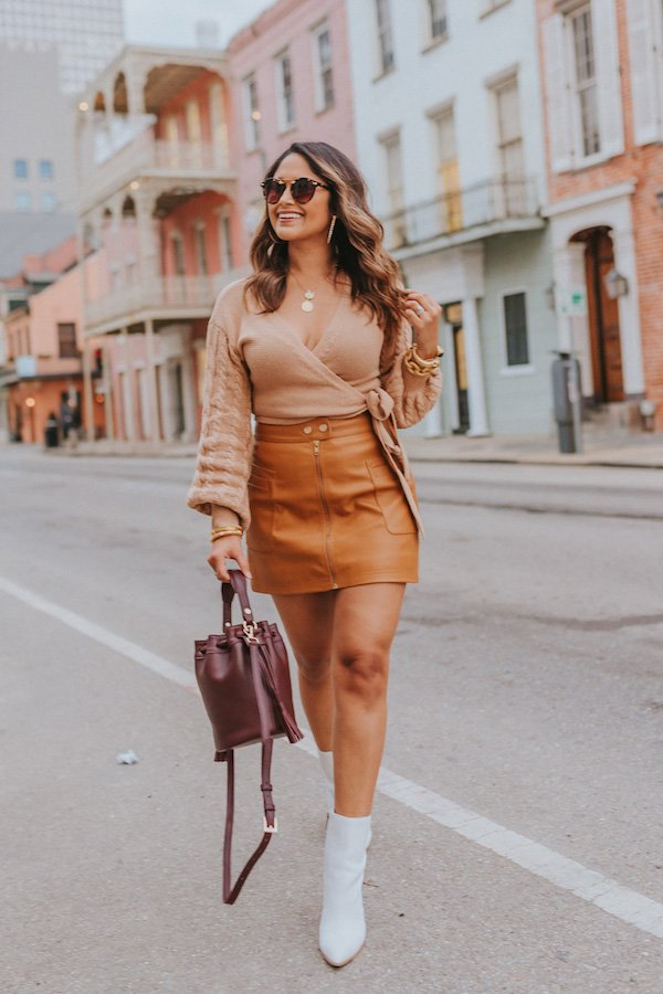Jennifer Palpallatoc - saia de couro - couro - outono - street style