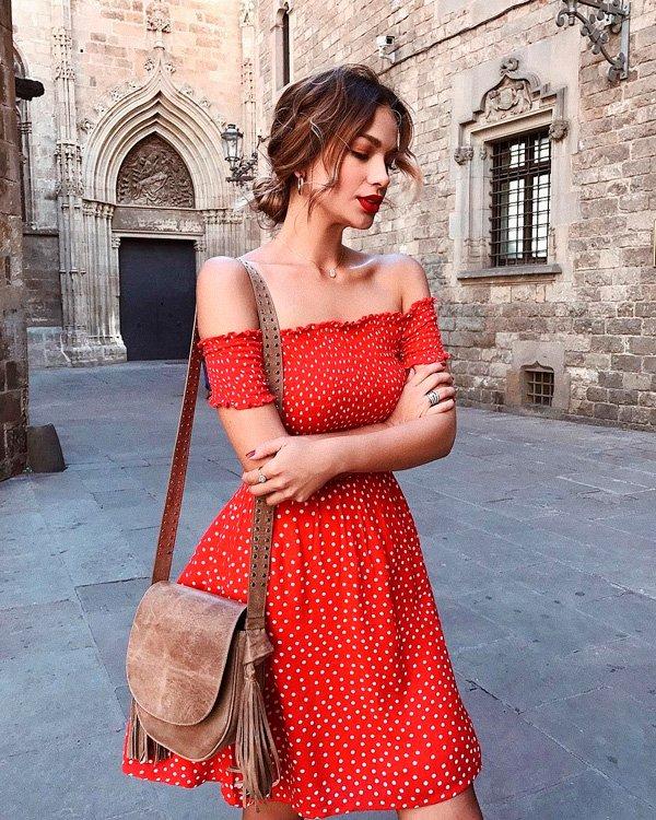 it-girl - vestido-vermelho - vermelho - verão - street-style
