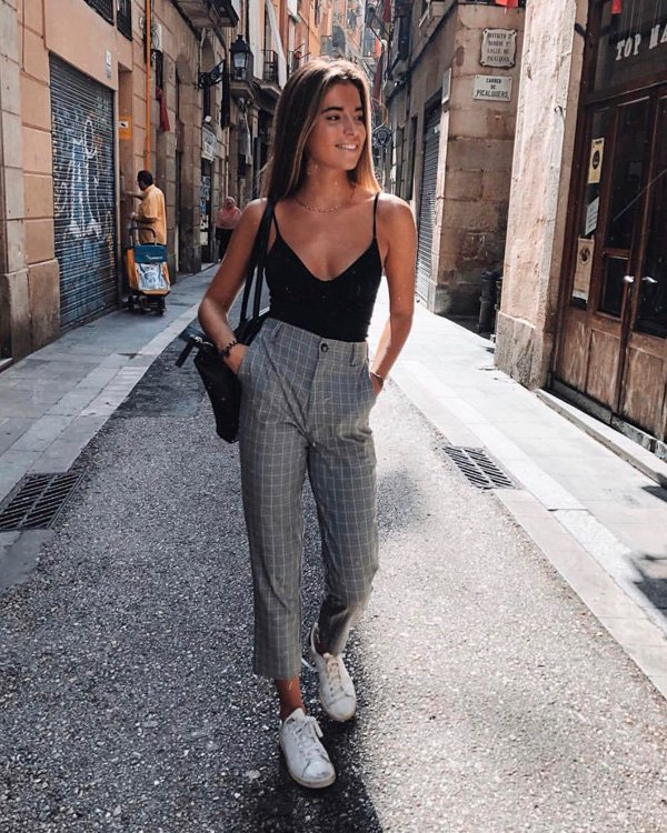 it-girl - calca-xadrez - xadrez - outono - street-style