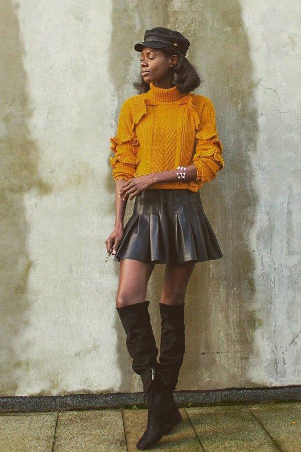 Martha - saia de couro - couro - outono - street style