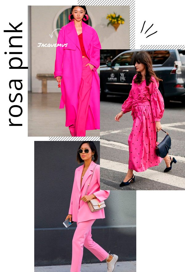 Jacquemus, Aimee Song - pink - monocromático - outono - street-style