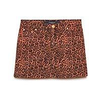 Saia Jeans Animal Print