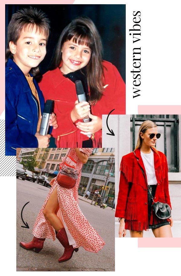 Sandy & Júnior, Aimee Song - western - western - outono - street-style