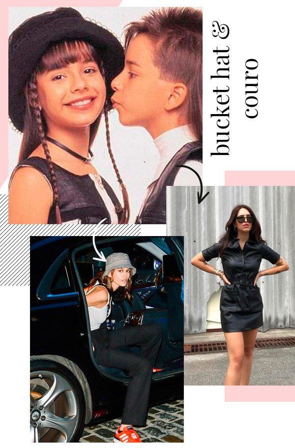 Sandy & Júnior, Kaia Gerber, Vic Hollo - couro - couro - outono - street-style