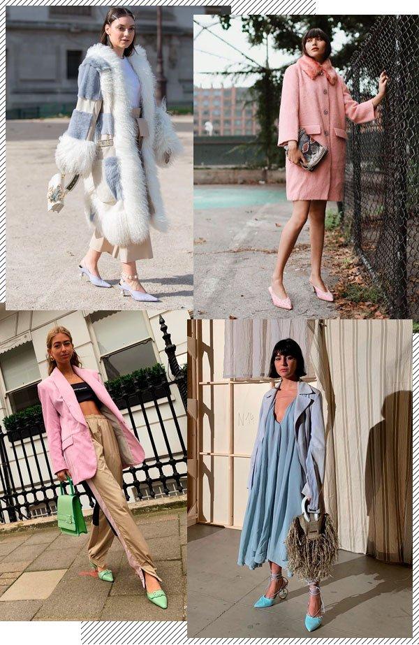 Natalie Lim Suarez, Emili Slindev, María Bernard - sapato-colorido - tons pastel - inverno - street-style