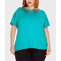 Blusa Alala Bordada Plus Size