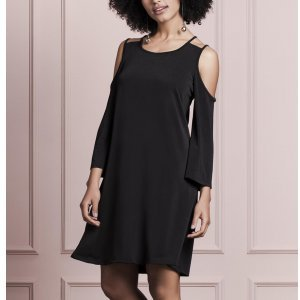 Vestido Manga Ampla Open Shoulder