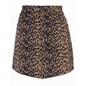Saia Jeans Leopard