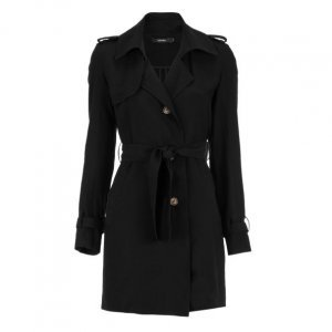Trench Coat Viscose Leve Sarjada