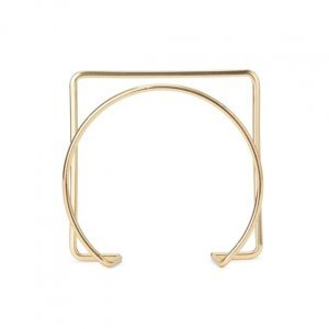 Bracelete Metal Geométrico Vazado