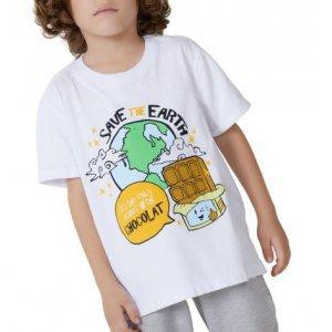 T-Shirt Save The Earth Infantil