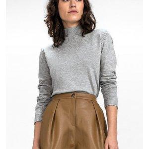 Suéter Em Tricô De Viscose Com Gola Alta