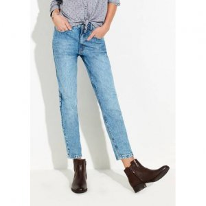 Calça Jeans Feminina Na Modelagem Mom Com Aplicações
