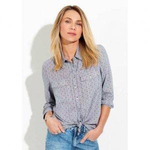 Camisa Feminina Em Tecido De Viscose Na Modelagem Mullet