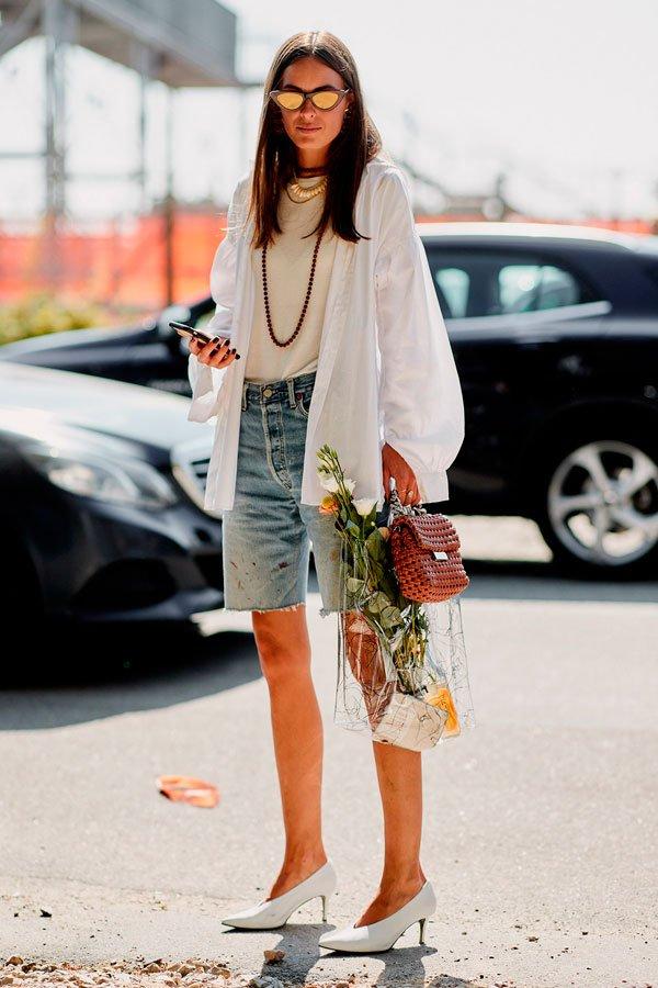 it-girl - bermuda-jeans - jeans - outono - street-style