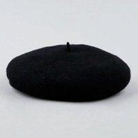 boina feminina em lã preta