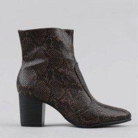 bota feminina animal print marrom - 34