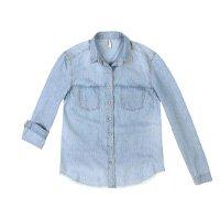 Camisa Jeans Em Tecido De Liocel