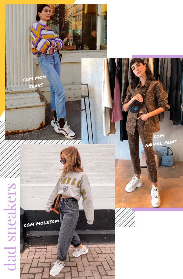 Brittany Xavier, Angelica Bucci, Amy Shaw - dad-sneakers - tênis - outono - street-style