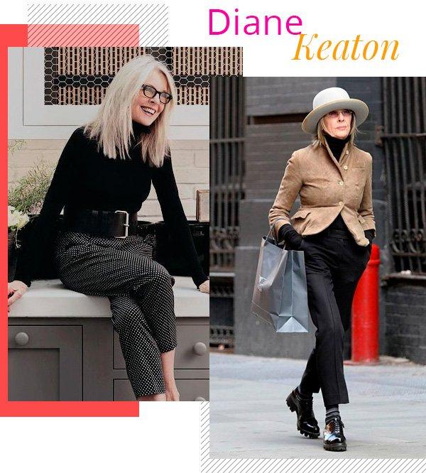 Diane Keaton - fashion - estilo sem idade - over 50 - tendências