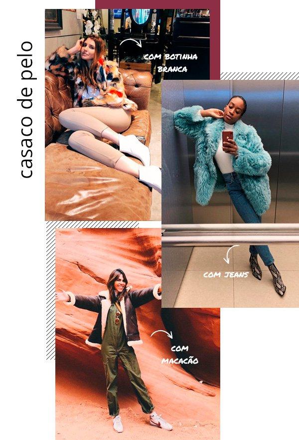 Manuela Bordasch , Chrissy Rutherford, Catharina Dieterich - casaco-pelo - pelo - inverno - street-style