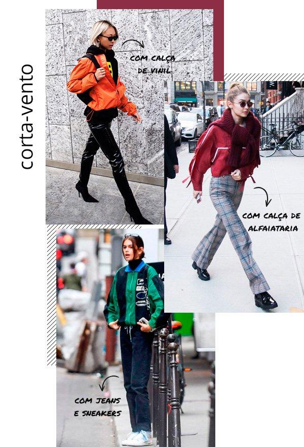 Vanessa Hong, Gigi Hadid, Kaia Gerber - corta-vento - corta-vento - inverno - street-style
