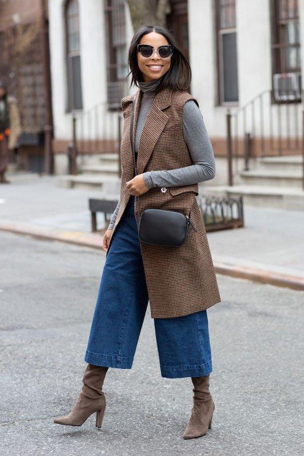 janelle-marie-lloyd - calça e colete - pantacourt jeans - inverno - street style
