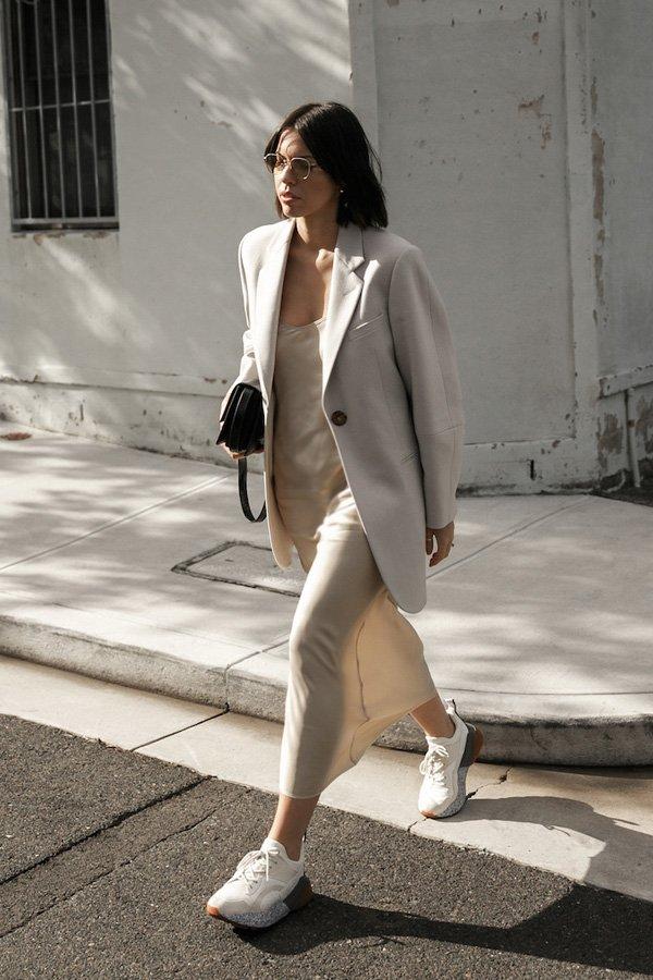 Kaitlyn Ham  - vestido - slipdress - outono/INVERNO - street style
