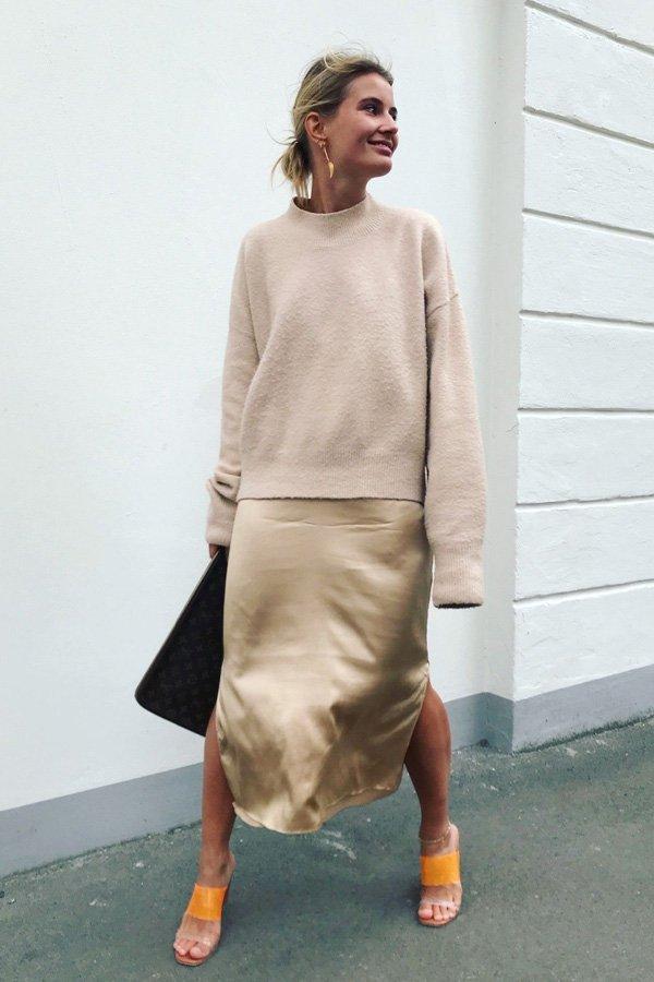 Karo Dall - vestido - slipdress - outono/INVERNO - street style