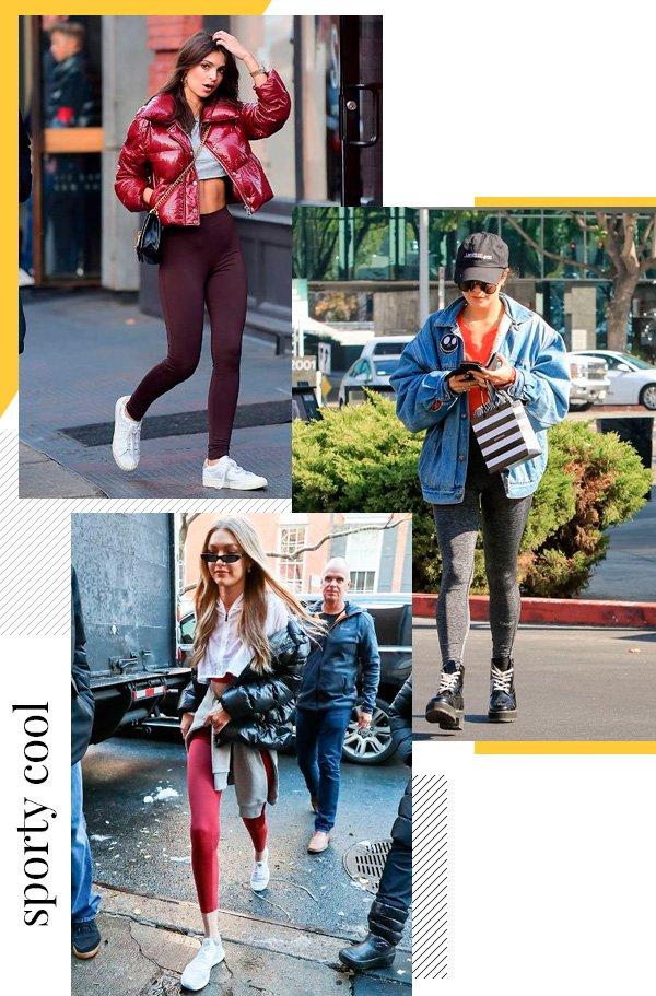 Emily Ratakowski, Vanessa Hudgens, Gigi Hadid - legging - legging - inverno - street-style